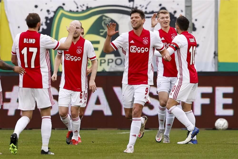 Ajax heeft aan één helft voetballen genoeg om ADO Den Haag te kloppen: 2-4; image source: Pro Shots