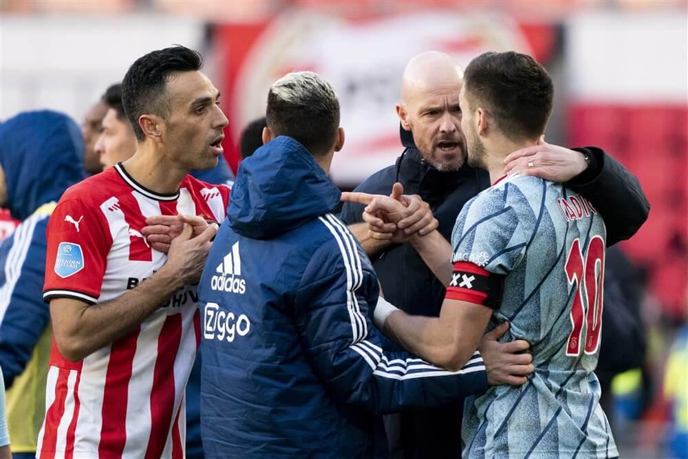 Slordig Ajax zet in Eindhoven door late penalty alsnog grote stap richting titel: 1-1; image source: Pro Shots