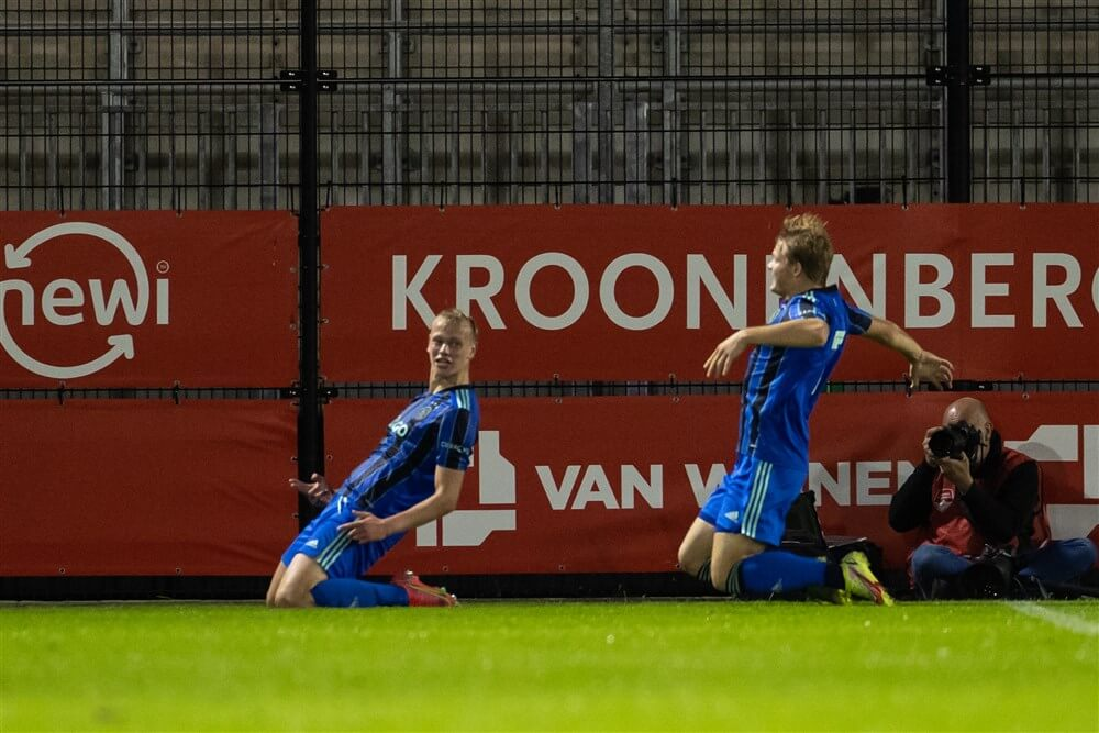 Hattrick Max de Waal tijdens zege Jong Ajax, Mohammed Kudus maakt rentree; image source: Pro Shots