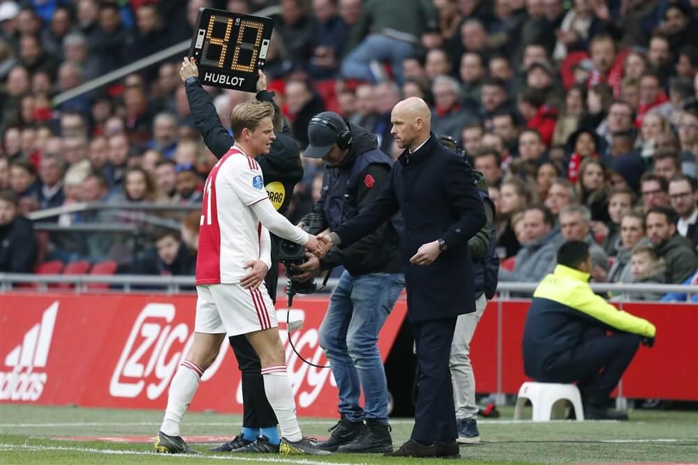 """Erik ten Hag: """"Besloten om geen risico te nemen met Frenkie de Jong""""; image source: Pro Shots"""