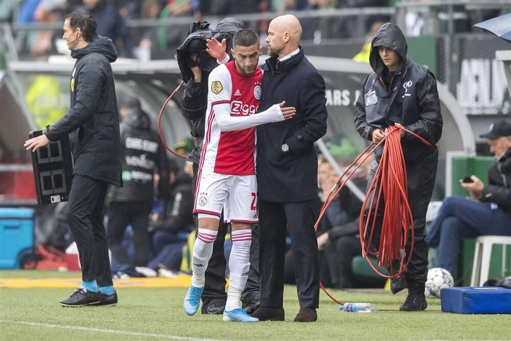 """""""Hakim Ziyech vanwege vermoeidheid niet in actie voor Marokko""""; image source: Pro Shots"""