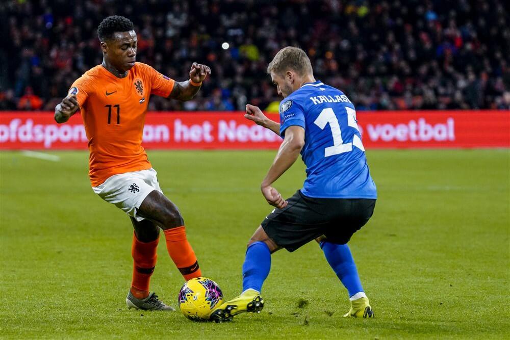 Quincy Promes met Oranje veel te sterk voor Estland; image source: Pro Shots