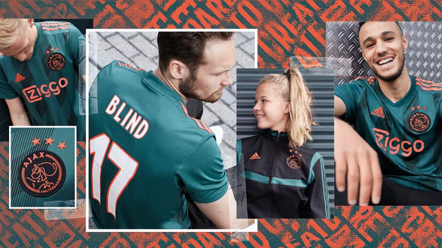 Ajax presenteert nieuwe uitshirt; image source: Ajax.nl