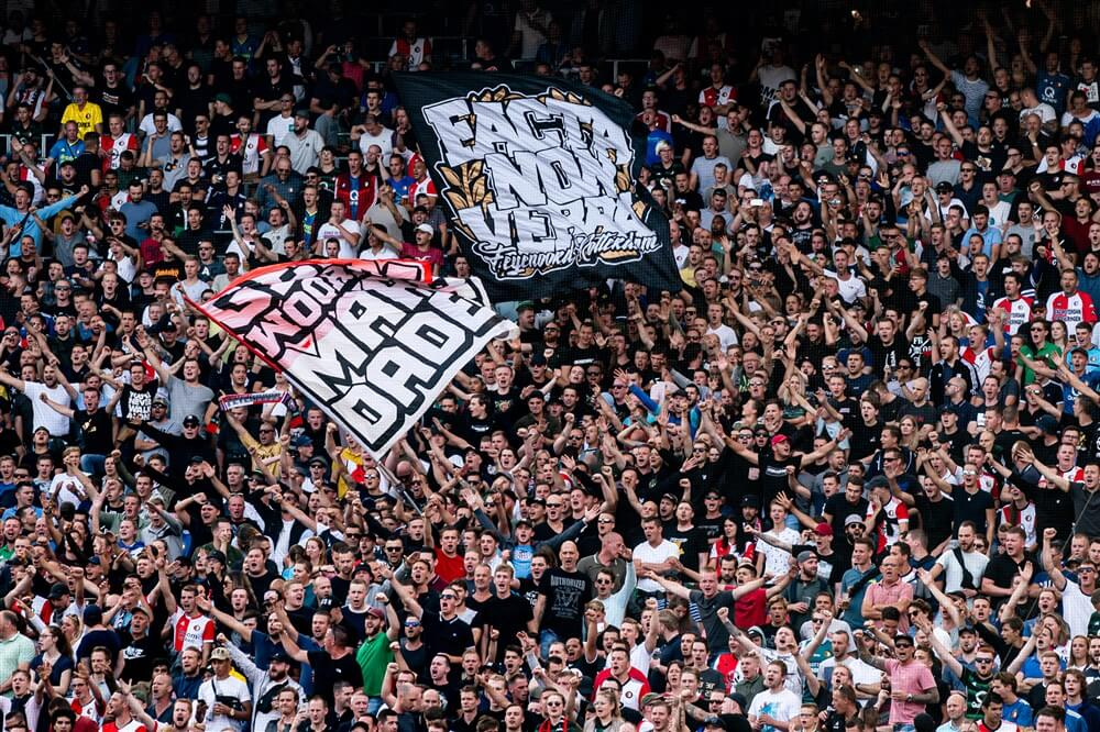 Feyenoord in Georgië alsnog gesteund door 140 uitsupporters; image source: Pro Shots