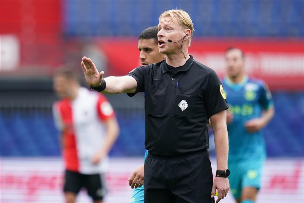 Kevin Blom fluit Feyenoord - FC Emmen; image source: Pro Shots