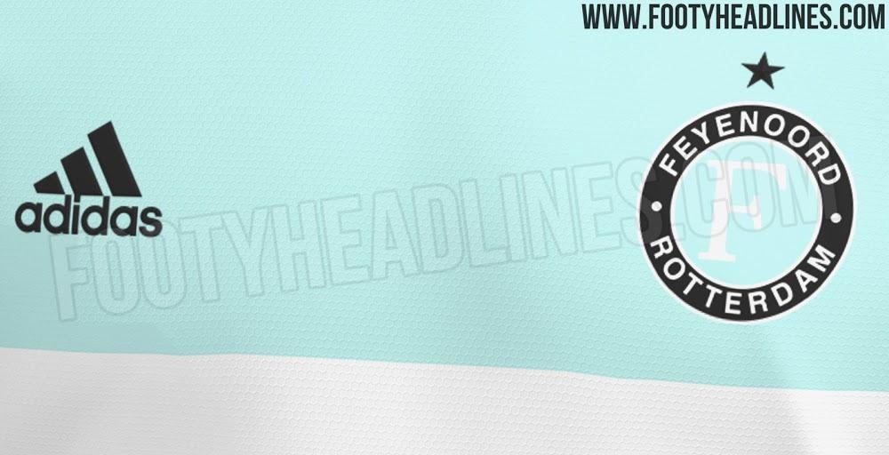 """[Update] """"Feyenoord komend seizoen niet in mintgroen, maar grijs uitshirt met gele accenten""""; image source: Footy Headlines"""
