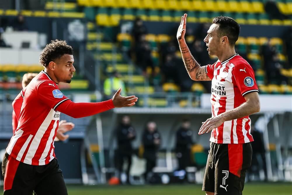 Wereldgoal Noni Madueke brengt PSV in veilige haven; image source: Pro Shots