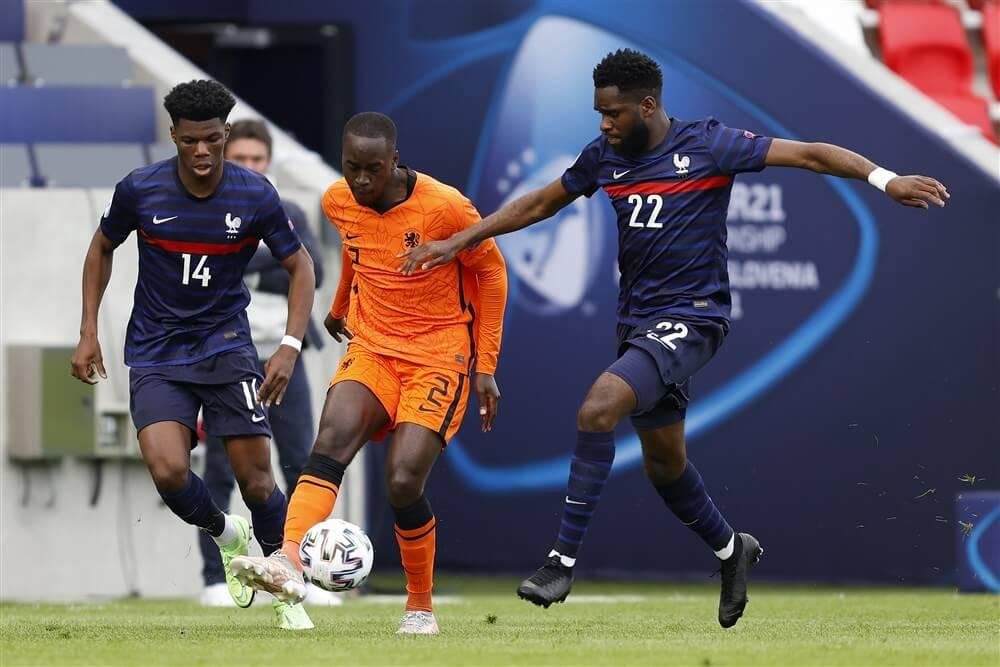 Jordan Teze wint met Jong Oranje van titelfavoriet Frankrijk; image source: Pro Shots