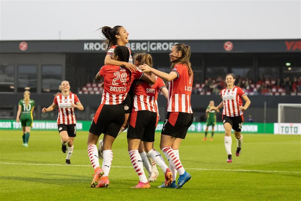 Joëlle Smits bezorgt PSV Vrouwen eerste prijs uit clubhistorie na winst in bekerfinale; image source: Pro Shots