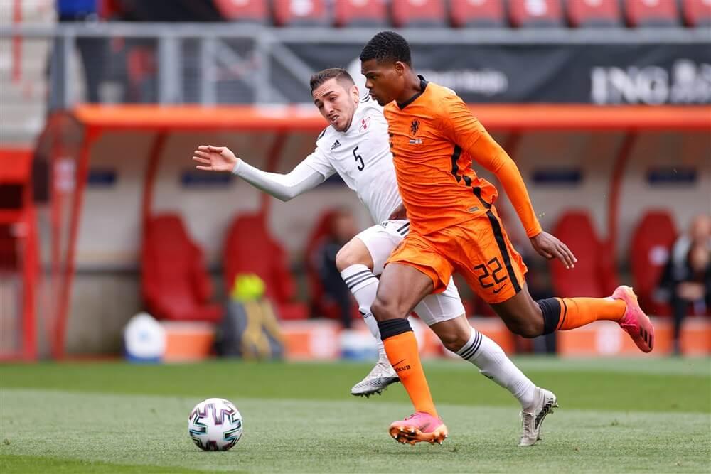 Denzel Dumfries en Donyell Malen winnen met Oranje van Georgië; image source: Pro Shots