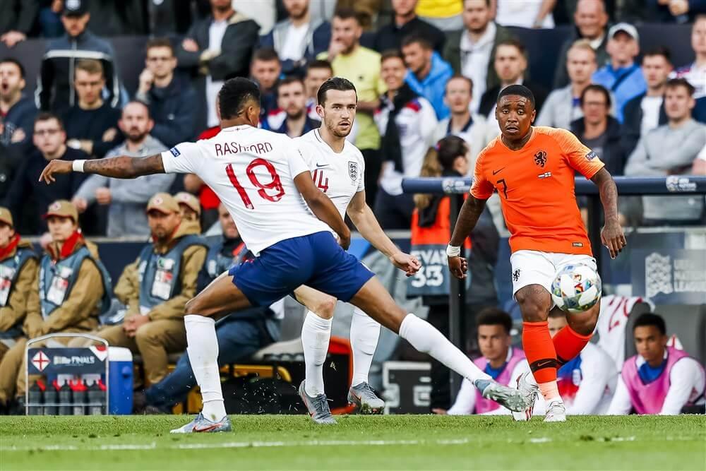 Denzel Dumfries en Steven Bergwijn met Oranje naar finale van Nations League; image source: Pro Shots