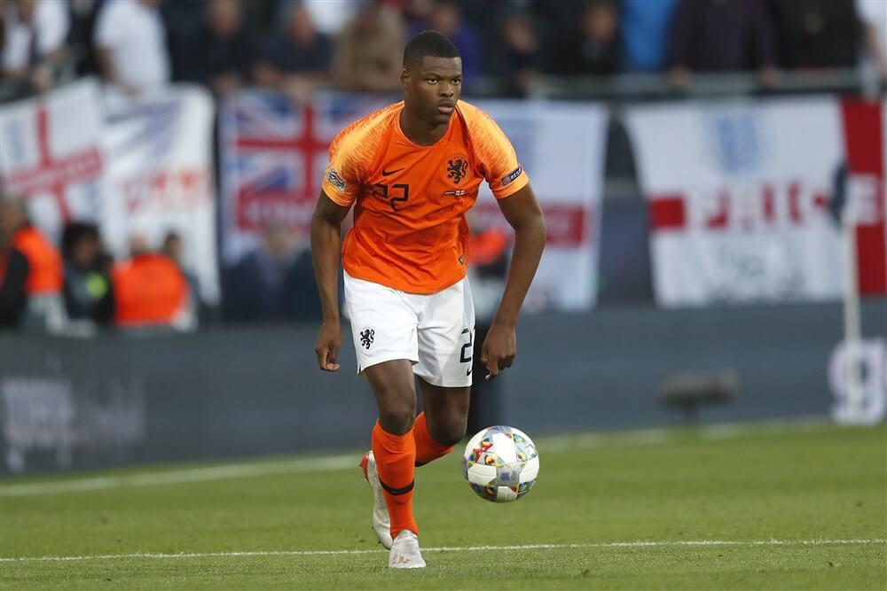 """""""Denzel Dumfries enige PSV""""er in basis Oranje""""; image source: Pro Shots"""
