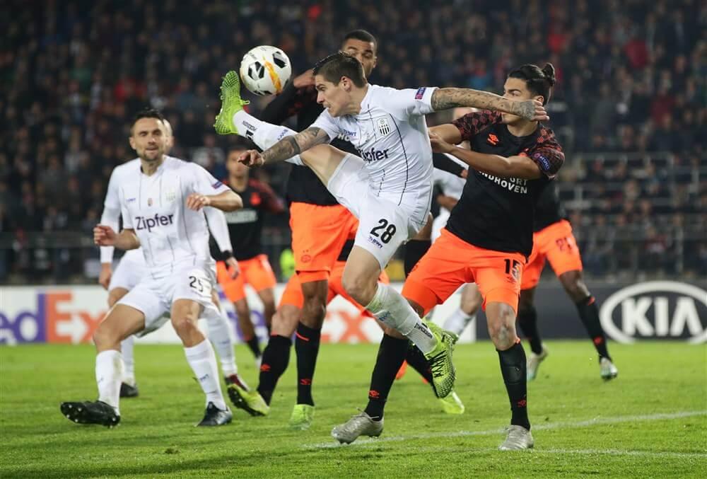 Gifbeker PSV blijkt nog lang niet leeg na vernedering tegen LASK; image source: Pro Shots