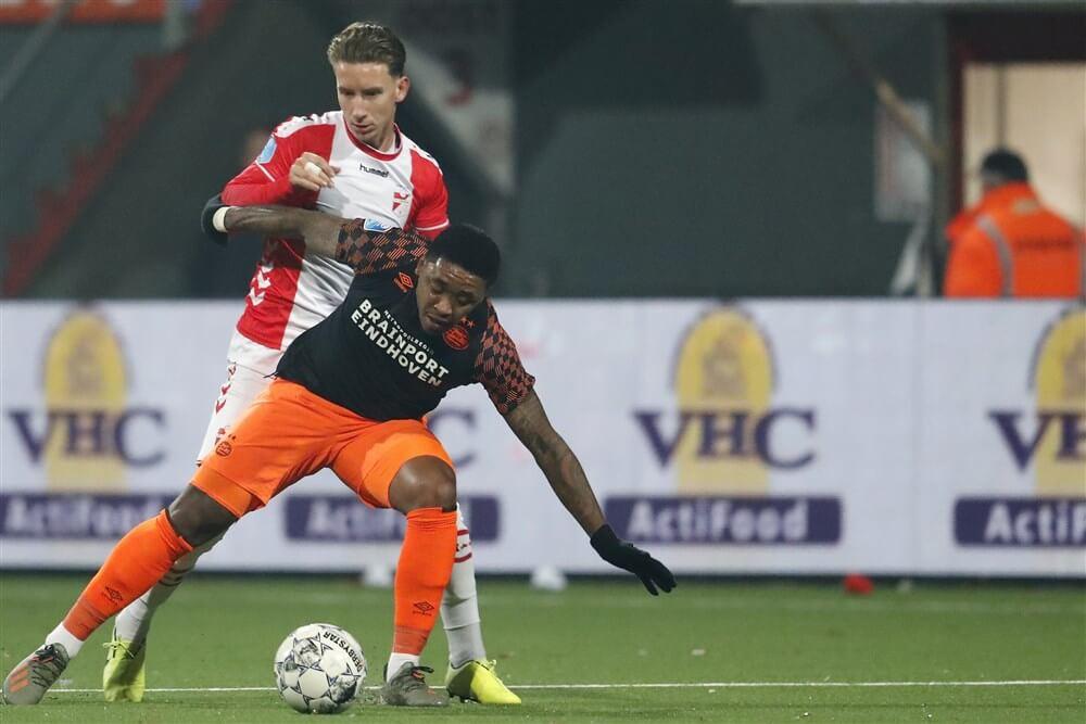 """FC Emmen-verdediger Glenn Bijl in beeld bij PSV""; image source: Pro Shots"