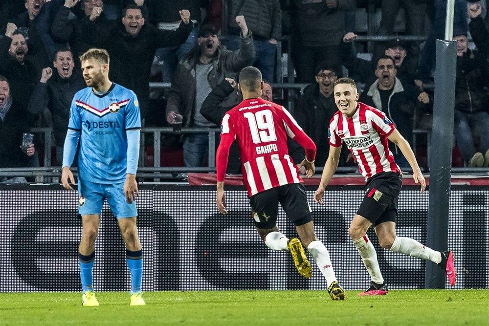 Degelijk PSV in nieuw 4-4-2 systeem naar verdiende zege op machteloos Willem II: 3-0; image source: Pro Shots