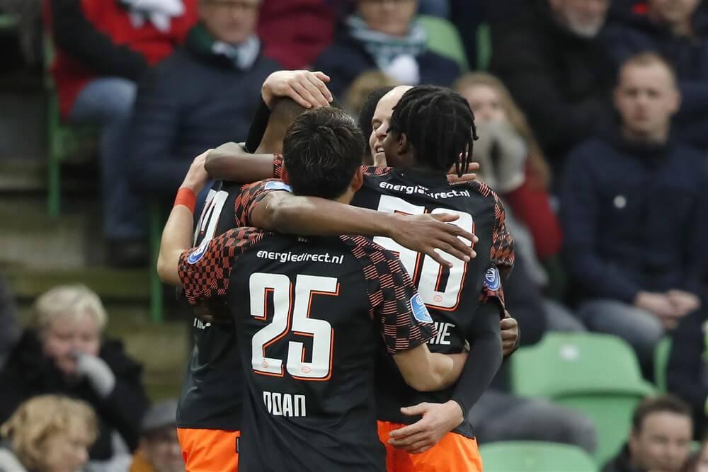 PSV na moeizame wedstrijd te sterk voor FC Groningen; image source: Pro Shots