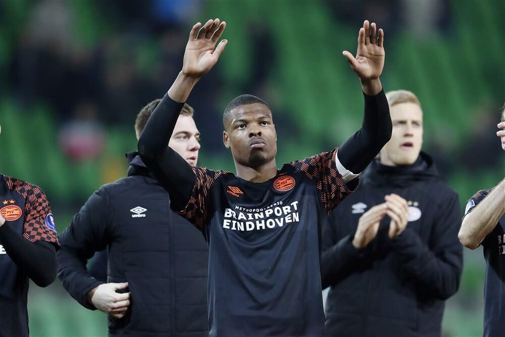"""""""PSV en AC Milan in gesprek over Denzel Dumfries, PSV wil 15 miljoen euro""""; image source: Pro Shots"""