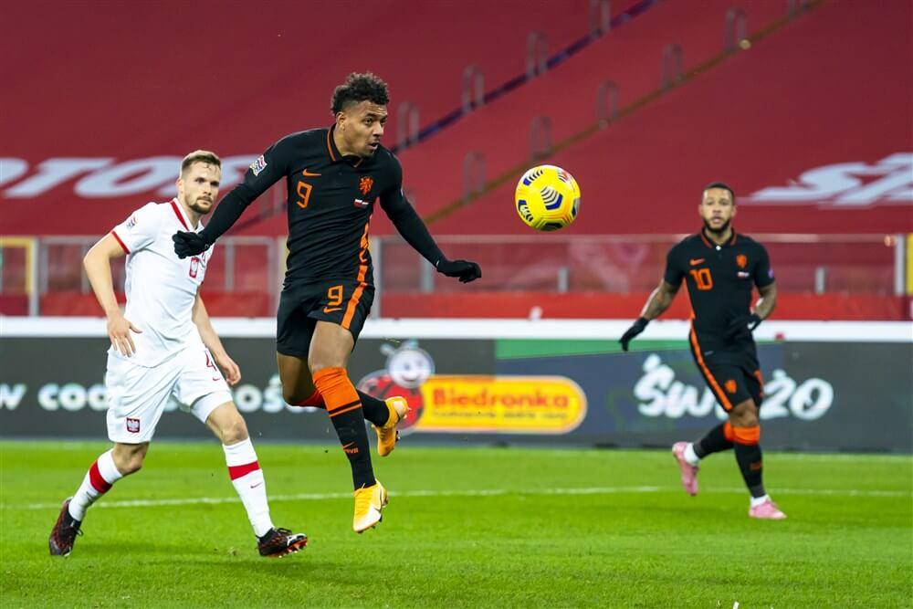 Nederlands elftal met Donyell Malen en Denzel Dumfries te sterk voor Polen; image source: Pro Shots