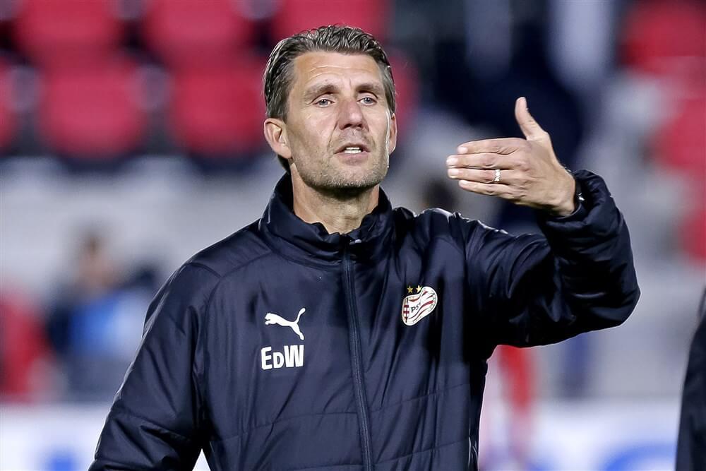 Edwin de Wijs coach van Jong PSV in thuiswedstrijd tegen FC Volendam; image source: Pro Shots